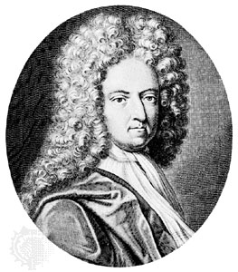Daniel Defoe (1660-1731):  earlier in his career, the author of Robinson Crusoe had been a hosier (stockings) merchant,  pamphleteer, and influential journalist.
