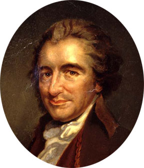 Tom Paine (1737-1809):  an unlikely career as Thetford corset-maker,  for a time seaman in the Seven Years War, Lewes excise man, then propagandist for the revolutions in  American and France. In the wayward tradition of pamphleteering,  The Age of Reason (1794) exploded in his face, and assured his undoing